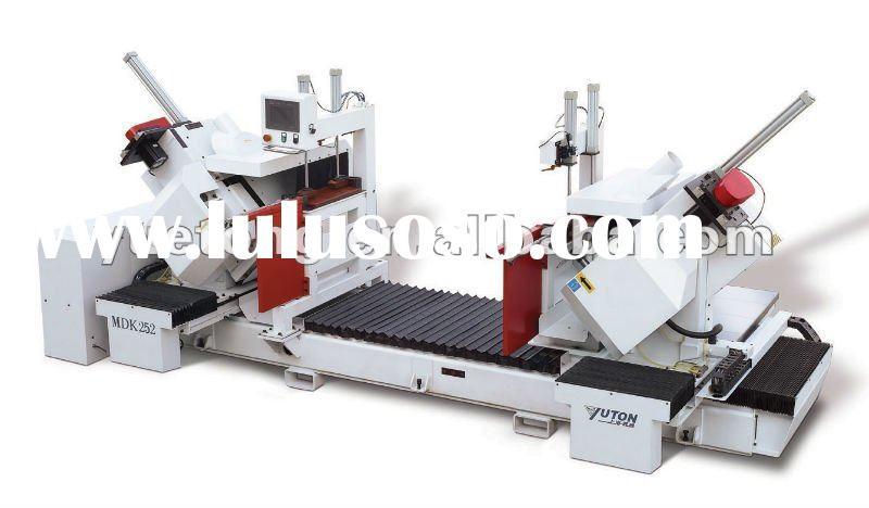 CNC wood door frame cutting & hole drilling machine
