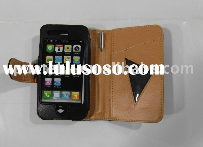 Carbon Fiber Leather Case iPhone 3G with touch pen