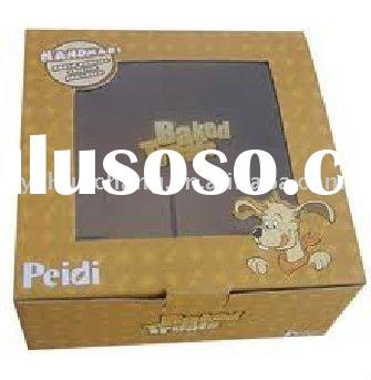 Cardboard large gift boxes with clear PVC window