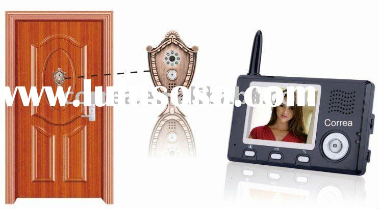Digital wireless peephole video intercom door phone with 3.5 inch LCD indoor monitor