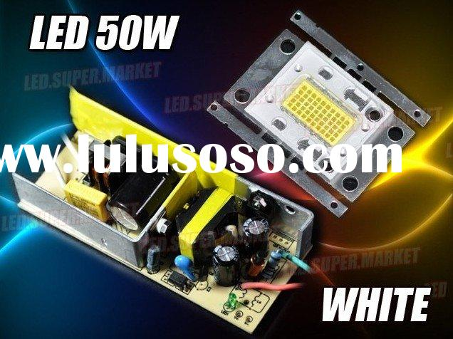HOT SALE! Cool White 50W 6000-6500LM High Power LED Light/Lamp +AC Driver