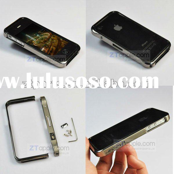 High Quality Metal Frame for mobile phones iphone 4S Decorative Frame Protective Cases