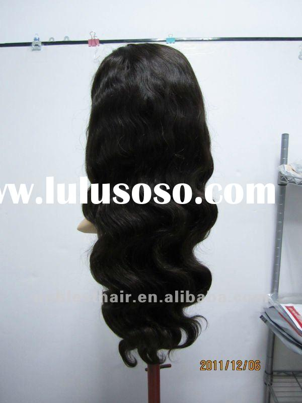 Hot sale discount now real human hair stock lace front wig