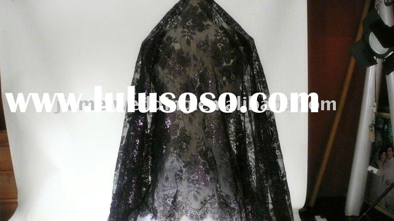 Hot sale vintage black lace veil for the Halloween