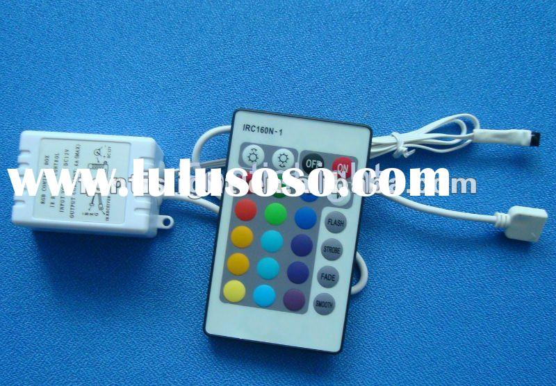 IR 24-Key Remote Control for 3528/5050 RGB LED Strip Light