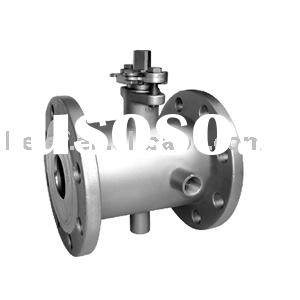 Jacket flange ball valve JIS 10K/ANSI 150# flange end