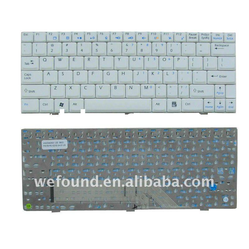 Laptop keyboard MSI U100 White ,Notebook keyboard