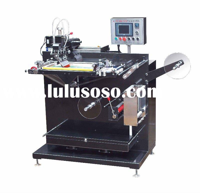 MHS-126 Single Color Silk Screen Printing Machine/garment label printing machine