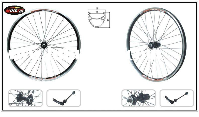 "MINGTAI MTSC22 Bicycle Bike Alloy Rim Wheels 26""x1.75inch 32H Black Printing 6061-T6 Aluminum"