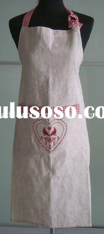 Machine embroidery Kitchen Apron,kitchen accessories