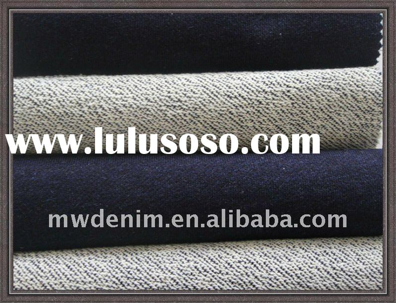 ORDER:Cotton/Spandex knitted fleeces denim fabric