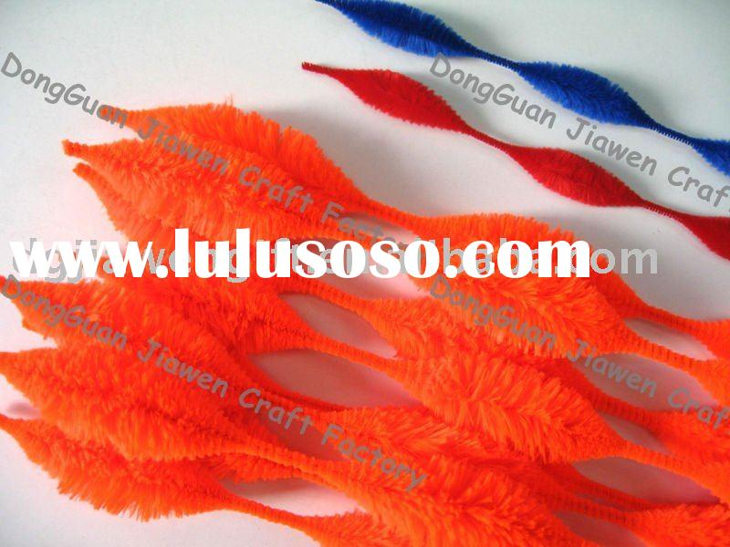 Orange Bump Chenille stem