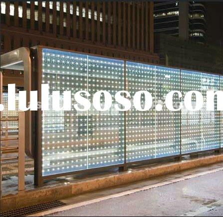 P20 transparent led glass wall decorative panels curtain walls
