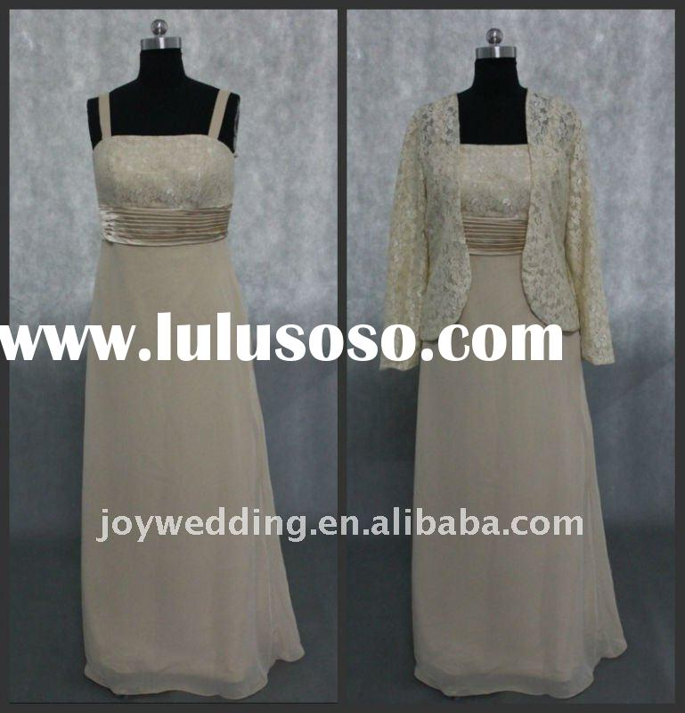 PD108 Free shipping 2012 Real sample champagne lace mother of the bride dresses 2011