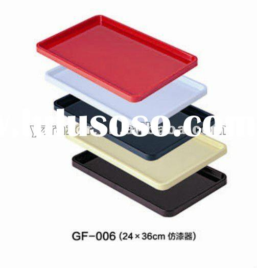 Plastic square hotel serving tray