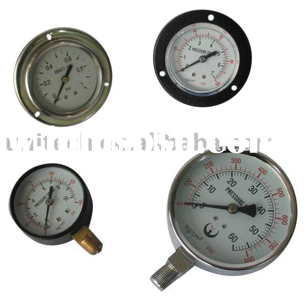 Pressure Gauge / Pressure Meter / Oil-Filled Gauge / Monameter /Carbon Steel Gauge