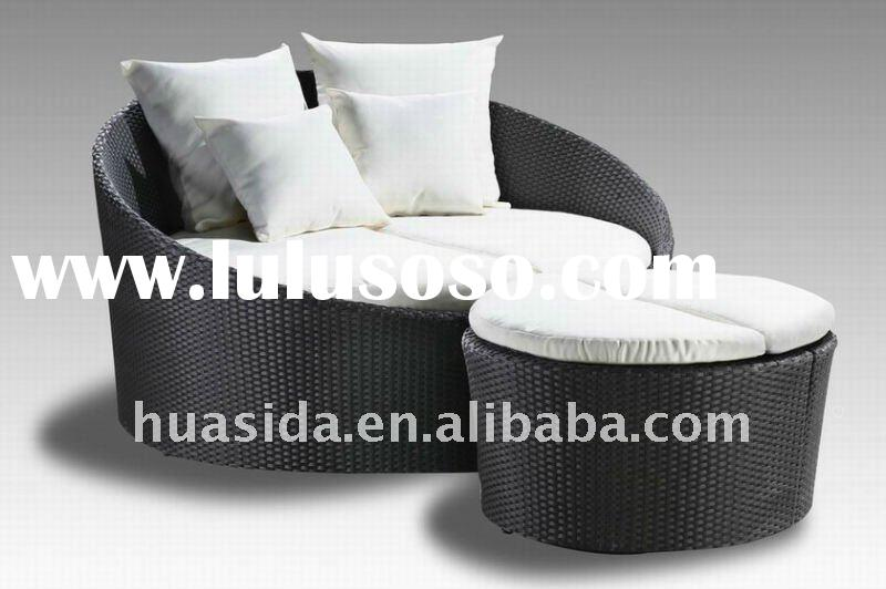 Rattan Furniture Round Sofa Bed Living Room Furniture outdoor chair cushions