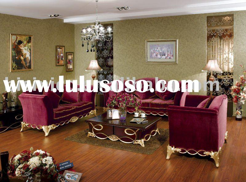 Royal style living room sofa set,single sofa,love sofa,three seat sofa and coffee table