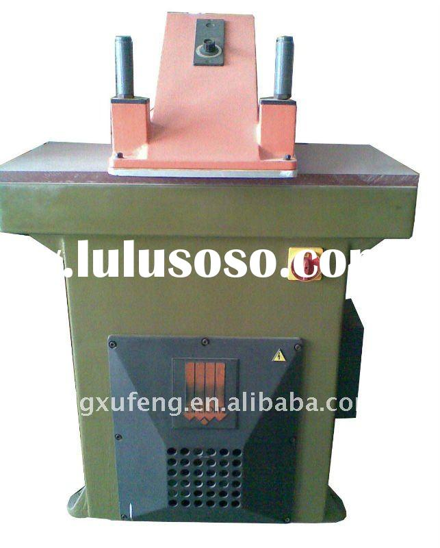 Second hand ATOM shoes machines used, clicking swing arm cutting press machine