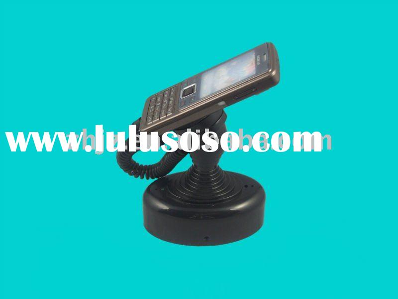 Security alarm charging Mobile Phone display stand with retractor