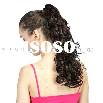 Sell black pretty body wave ponytail hair extension
