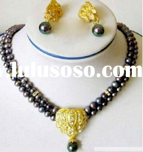 Simple Elegent Design Ladies' Pearl Jewelry Set