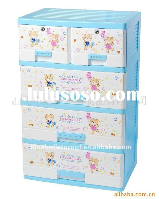 Tall Plastic Drawing Storage Box Storage Cabinet