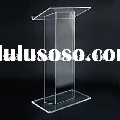 acrylic podium/pulpit/ledtern or portable desk stand