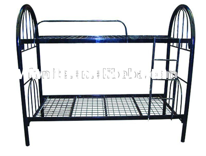 construction labor use black wire mesh base double decker metal bunk bed