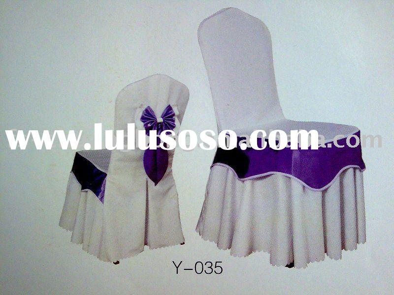 cotton chair cover/jacquard chair cover/banquet chair cover