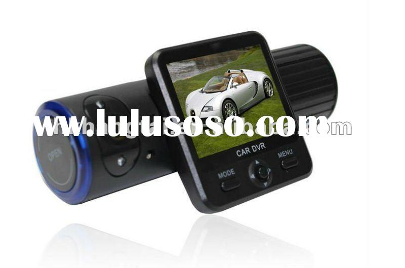 dual camera Car DVR camera , rotatable lens +GPS logger +G-sensors + Multi-languages car black box