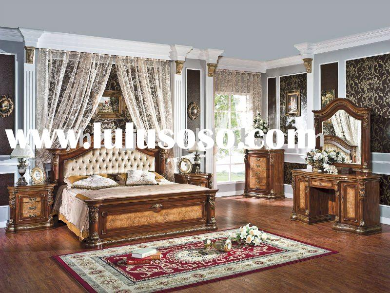 european classical panel furniture/simple home furniture/bedroom set 8006