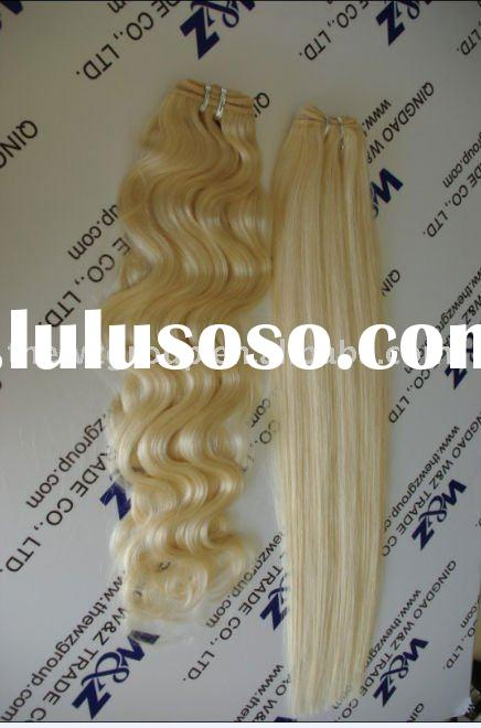 gold and cheap remy human hair extension