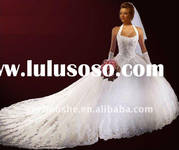 halter ball gown Bridal wedding dress PE1048