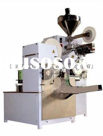 herb tea bag making machine with inner filter and outer envelop