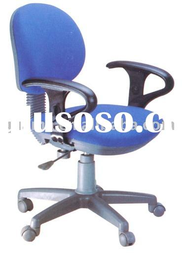 medium back fabric Office Chair with typiacl armrest & nylon star base with casters