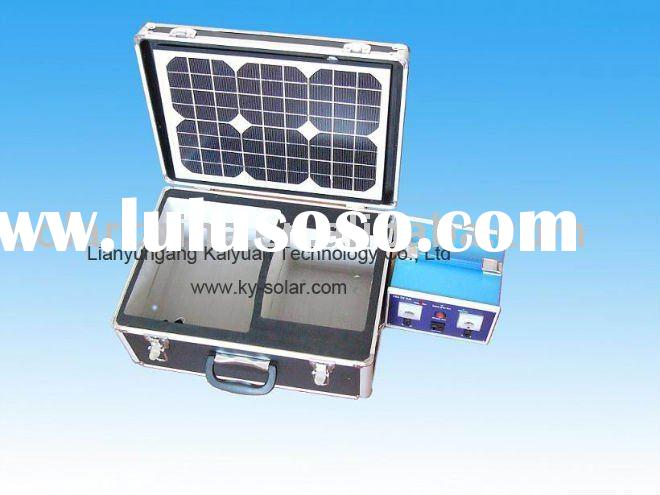 portable solar PV monocrystalline cell panel power system 50W