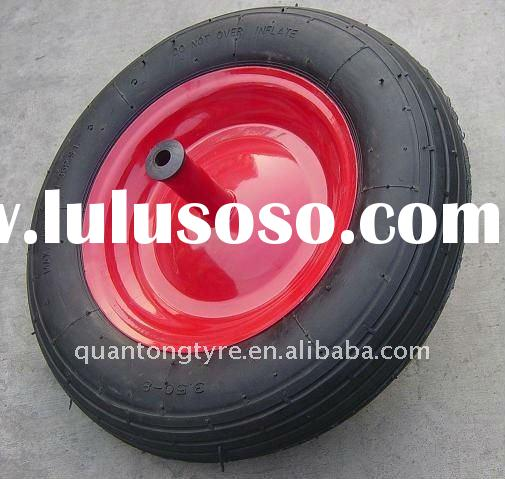 qingdao pneumatic tire rubber /rubber wheel for wheelbarrow use