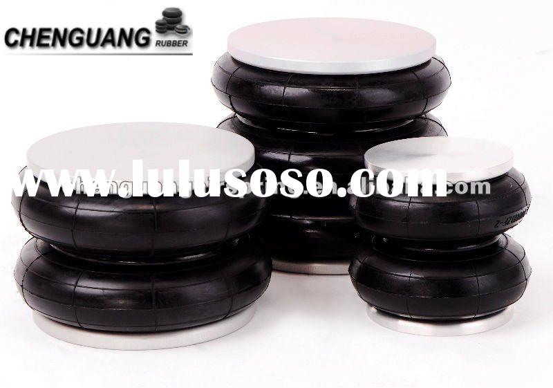 Spring Rubber Shock Absorbers on heavy duty motorcycle shock