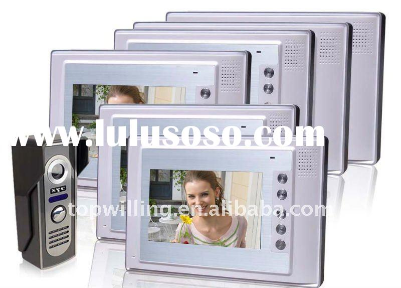 video intercom doorbell,video door phone,wireless peep camera(6monitor+1camras)