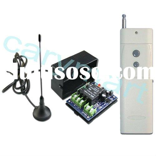 2000m 1 channel 12v dc 315/433mhz wireless rf transmitter & receiver remote control radio contro