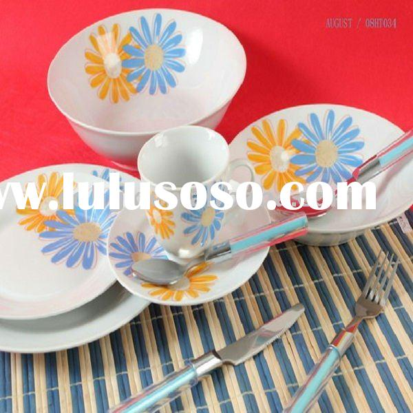 2011 hot sale ceramic dishes porcelain bowl plates elegant porcelain coffee sets and tea sets