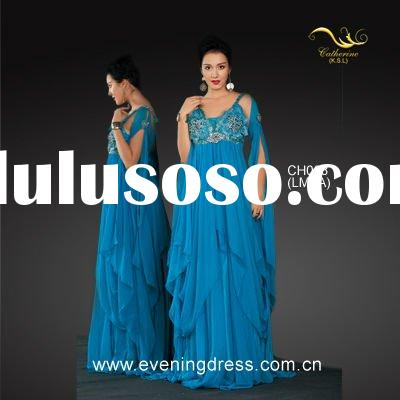 2012 Baby bule women elegant evening dresses with sleeves CH008