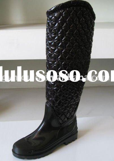 2012 New style rain boots,Meet help surface wellies,Ladies' fashion pvc rain boots,Snow rain