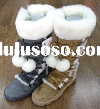 2012 Winter Outdoor Snow Knee Snow Boots with Fur Ball