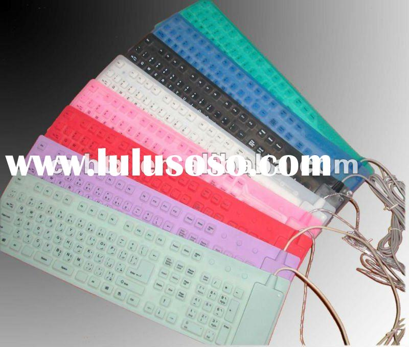 2012 new arrival folding computer keyboard,led computer keyboard