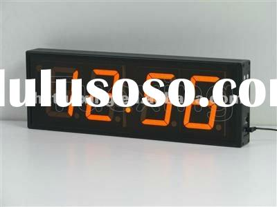 4 inch 4 digit large led digital wall clock