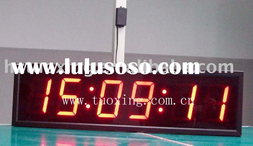 5 inch 6 digit large digital wall clock