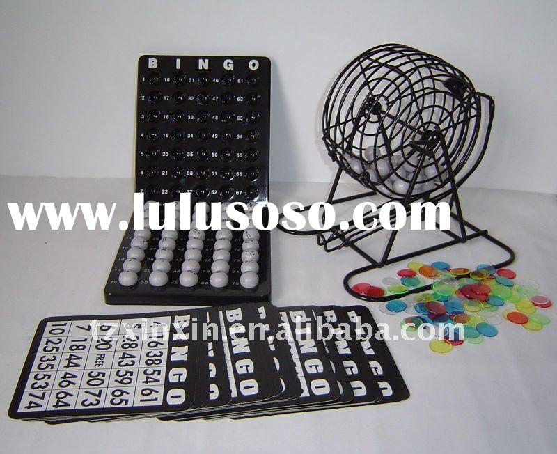 6 inch bingo cage with plastic bingo board game set