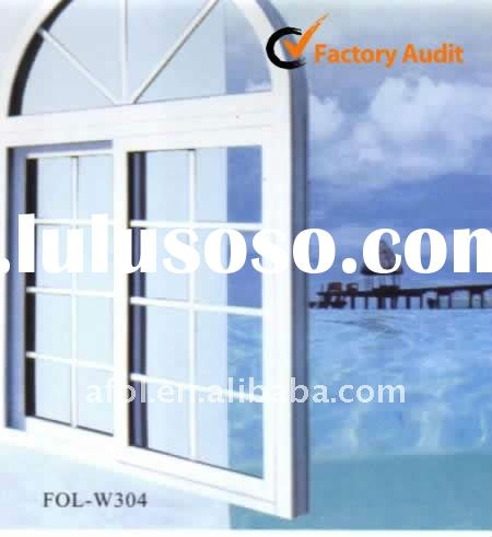 AFOL-W304 PVC sliding windows with double glass